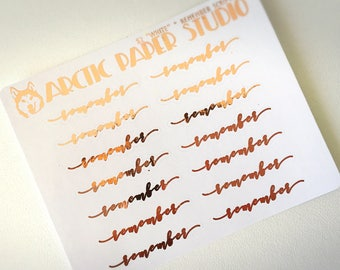 Remember SCRIPTS - FOILED Sampler Event Icons Planner Stickers