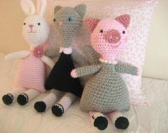 Crochet little animal girls