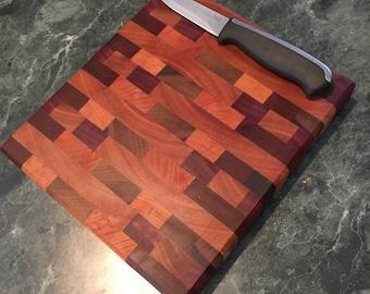 end grain chopping block