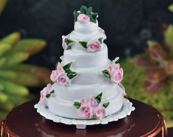 Dollhouse Miniature Wedding Cake 1:12 Scale