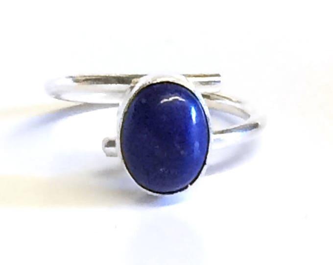 Adjustable Lapis Lazuli (oval) Ring