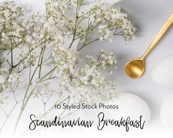 Styled Stock Bundle, Scandinavian Style Photos, Breakfast Stock Photo, Food Photography, Social Media Images, Blog Header | JPEG