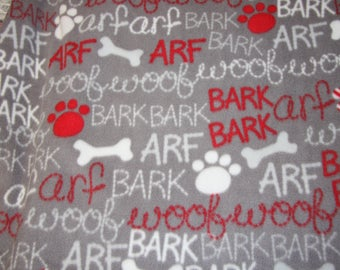 Woof Arf Fleece Fabric Dog blanket Fleece Fabric Store low price Anti Pill fleece fabric  by the yard free shipping available - SHIPS FAST