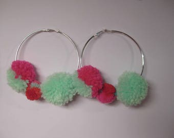 Earrings hoop tassel earrings
