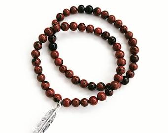 Brown Semiprecious Stone Bracelet