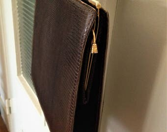 Snakeskin handbag - vintage