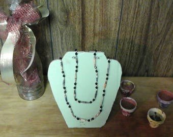 Beaded paper necklace