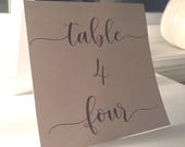 Table Number Cards 1-20 /...