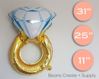 Diamond Engagement Ring Balloon |  Wedding, Engagement