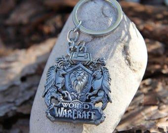Alliance Steel Emblem keychain inspired World of Warcraft