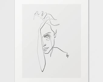 Paloma - Fine Art Print of One Single Line Illustration