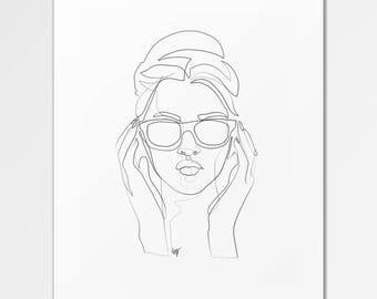 Stella - Fine Art Print of One Single Line Illustration
