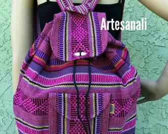 Mexican  handwoven  boho chic bohemian backpack/