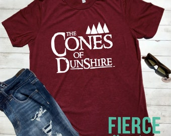 Cones of Dunshire Parks and Rec Inspired Unisex Shirt, Funny Shirt, Leslie Knope, Burt Macklin