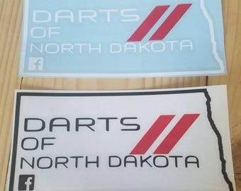 Darts of North Dakota member decal