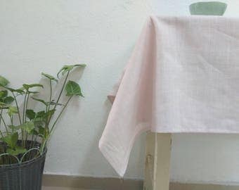 Pink Linen Tablecloth Pink Vintage Tablecloth rectangular tablecloth Square Tablecloth Stone Woshed Linen Tablecloth