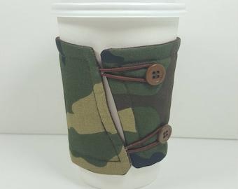 Camouflage Coffee cozy sleeve