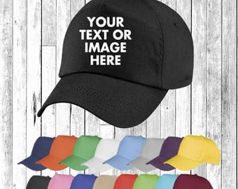 Personalised Embroidered Printed Baseball Cap Hat Custom Hat Unisex Secret Santa Gift Pintrest Tumblr