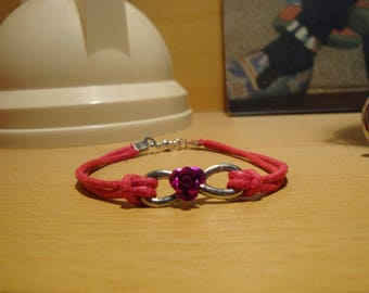 twisted and rose bracelet