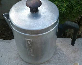 Vintage Aluminum Grease Container