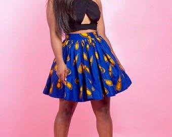 Tayo Ankara Skater skirt, Ankara Mini skirts, Ankara fabric, Ankara skirt, African mini skirt, Short skirt, African print skirt, Mini skirts