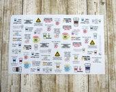 Coffee Stickers, Coffee Planner stickers, Coffee Lover stickers, Functional stickers, coffee addict, kawaii coffee stickers