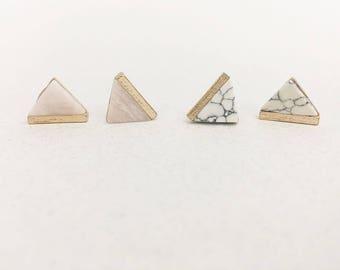 stone triangle stud