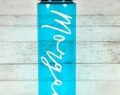 Personalized Water Bottle//Birthday Gift//Custom Water Bottle//Straw Water Bottle//Gift For Her//Bridesmaid Gift//BPA Free//Workout Bottle