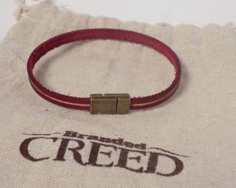 Narrow leather bracelet, Skinny leather bracelet, mini leather layering bracelet, women's leather bracelet, men's leather bracelet