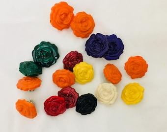 Resin rose lapel pin