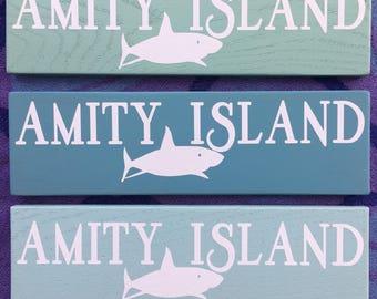 Amity Island Shark Sign