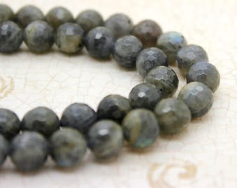 Labradorite Faceted Round Beads Natural Gemstone (4mm 6mm 8mm 10mm 12mm)