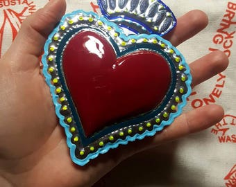 Former vote-Red heart decorated