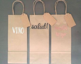 Embossed Wine Bags (Set of 3)