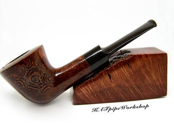 Handmade Rusticated BRIAR Tobacco Smoking pipe #23/Briar smoking pipe Rust Dublin/Wooden pipe/Dublin pipe/pipa/pfeife/Tobacco bowl/+GIFT+