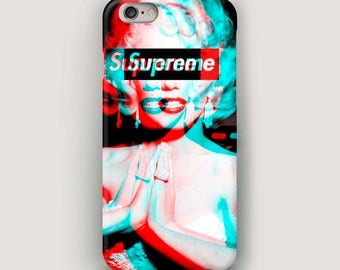 Supreme iPhone 7 Case, Marilyn Monroe iPhone 6 Plus Case, Phone Case, iPhone 5 Case, Galaxy S6 Case, iPhone 6S Cover, Supreme Case iPhone