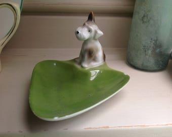 Vintage ceramic dog dish 1960s
