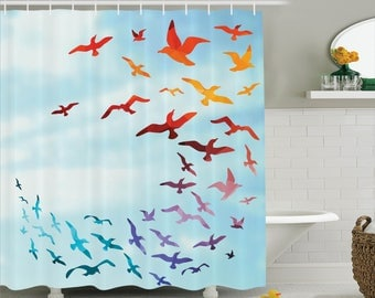 hgh quality 3d printed shower curtain print waterproof and stain proof high quality design express