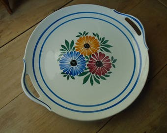 Cake - dish presentation - French porcelain - 80s