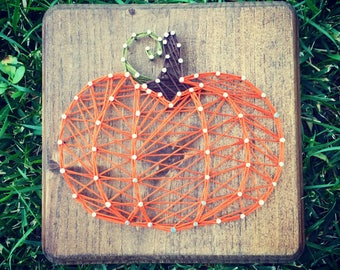 Fall/ Autumn String Art-- Pumpkin, Candy Corn, or Leaf