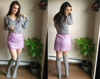 Mini Skirt / Miniskirt / Lace Mini Skirt / Going Out Clothes / Clubwear / Sexy Mini Skirt / Tight Skirt / High Waist Skirt / Pastel Clothes