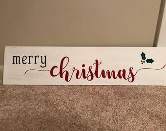 Rustic merry chrisrmas sign