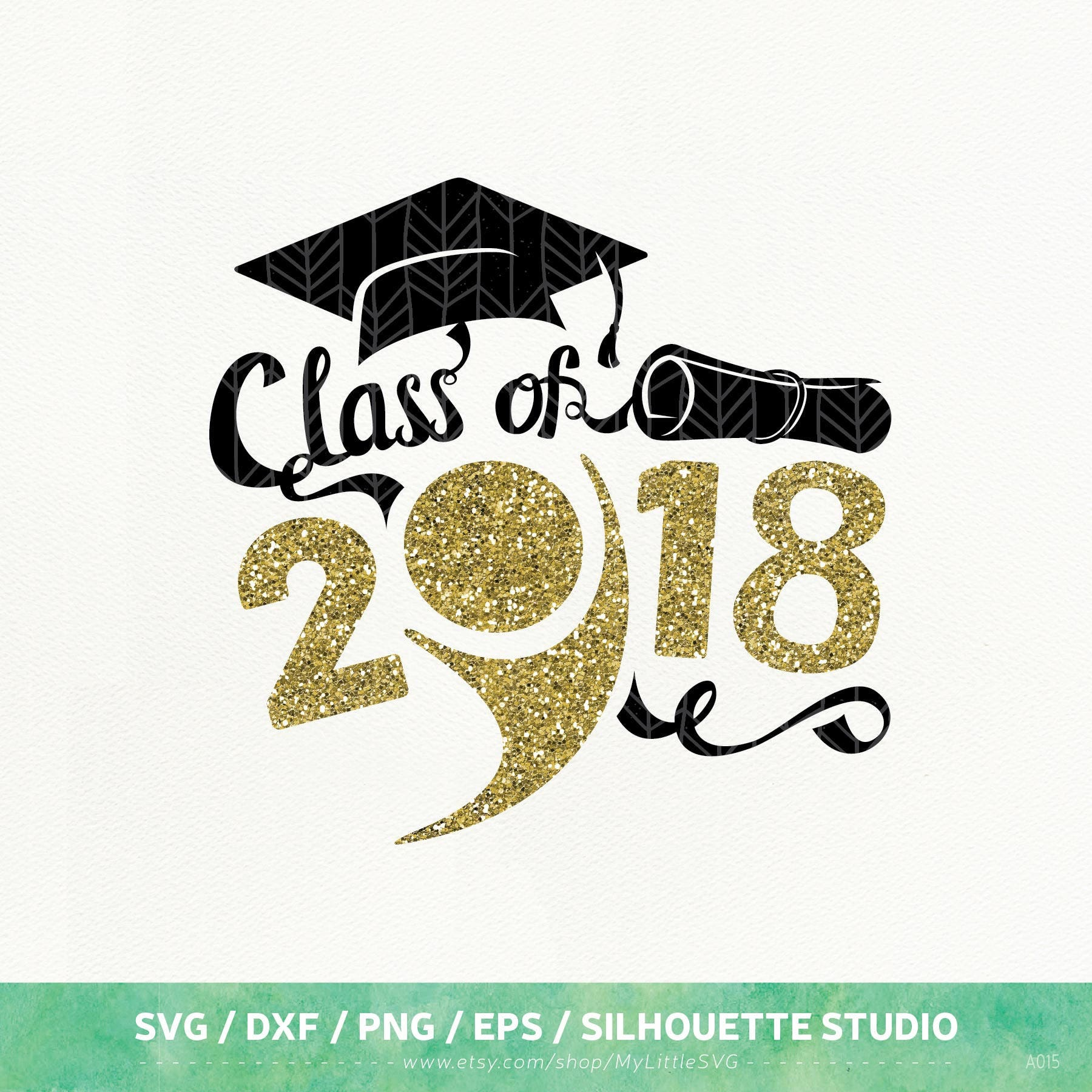 Graduation SVG Files, Graduation 2018 Dxf, Png, Eps For
