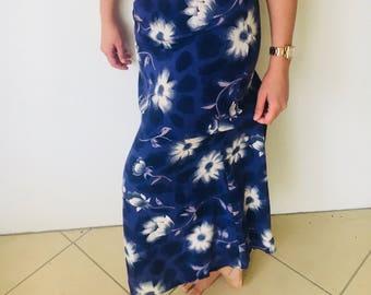 Vintage long floral skirt