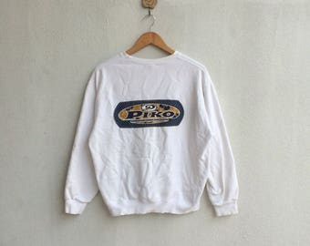 Vintage White Piko Hawaiian Sweatshirt Nice Design