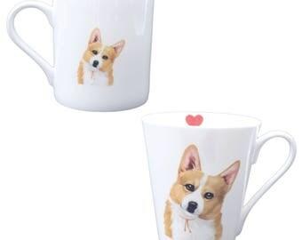 Corgi china water cup