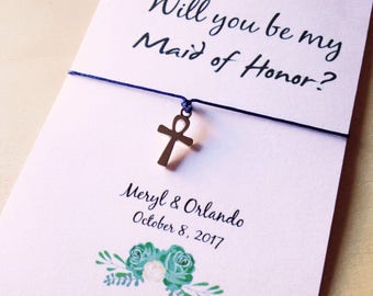 Maid of Honor • Will you be my Matron of Honor • Maid of Honor proposal • Wedding favor • Asking gifts