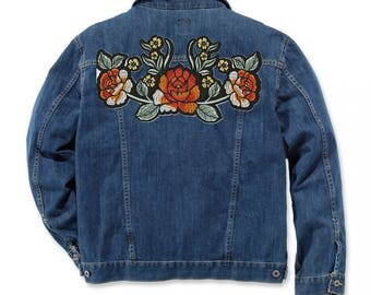 Floral Patches Denim Jacket Patch Iron On Patch