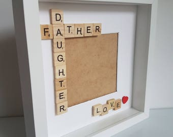 Father daughter box frame, Father's Day frames, Father's Day gifts, father daughter box frame, gift for Dad, gift from daughter, Dad frame