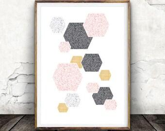 Digital Print, Printable Wall Art, Abstract Art, Geometric Print, Abstract Print, Scandinavian Art, Affiche scandinave, Scandinavian Print